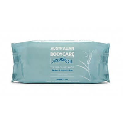 Australian Bodycare Antiseptic Wet Wipes (72)